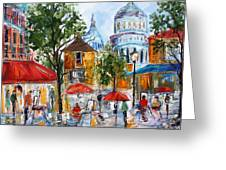 Montmartre Paris Greeting Card