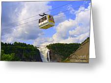 Montmorency Falls And Gondola Greeting Card