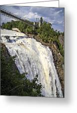 Montmorency Falls Park Quebec City Canada Greeting Card