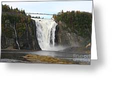 Montmorency Waterfall - Canada Greeting Card