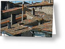 Tile Rooftops Of France Greeting Card