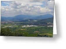 Montorfano. A View To Lake Iseo Greeting Card