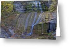 Montour Falls Fall Panorama Greeting Card