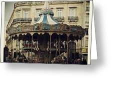 Montpellier Carousel Greeting Card