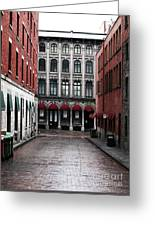 Montreal Alley Greeting Card