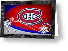 Montreal Canadiens Christmas Greeting Card
