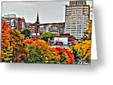 Montreal City Colors Greeting Card