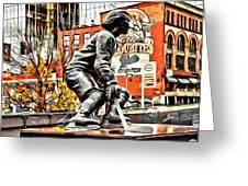 Montreal Hockey Lady Greeting Card