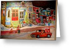 Montreal Memories Of Street Of Icons Greeting Card by Michael Litvack