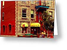 Montreal Memories Restaurant Chez Orphee 362 Fairmount Cb Spandau Montreal Premier City Scene Artist Greeting Card
