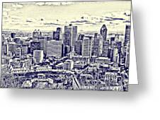 Montreal Skyline From Mount Royal Two Greeting Card