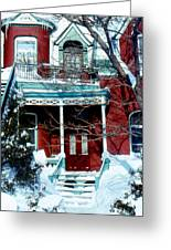Montreal The Esplanade In Winter Greeting Card