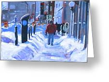 Montreal Winter Downtown Greeting Card