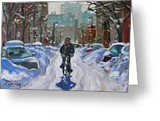 Montreal Winter Fastest Transportation Greeting Card