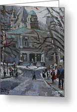 Montreal Winter Mcgill Greeting Card