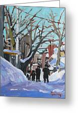 Montreal Winter Mile End Shabbat Greeting Card