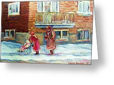Montreal Winter Scenes Greeting Card