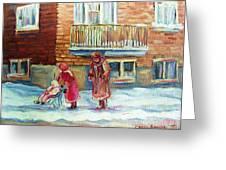 Montreal Winter Scenes Greeting Card