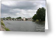 Montrichard Bridge Over Cher River Greeting Card