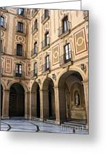 Montserrat Monastery Courtyard Greeting Card