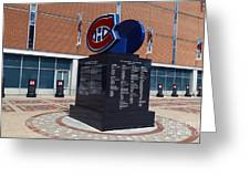 Monument For The Montreal Canadiens Greeting Card