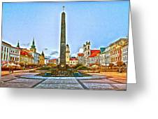Monument In B.bystrica Greeting Card