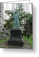 Monument John Watts Trinity Churchyard New York Greeting Card