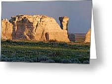 Monument Rocks Panorama Greeting Card