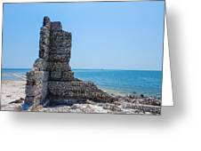 Monument Ruins Greeting Card