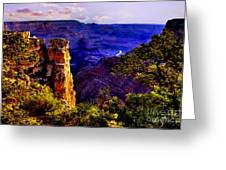 Monument To Grand Canyon  Greeting Card