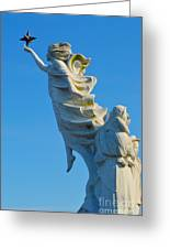 Monument To The Immigrants Statue 1 Greeting Card