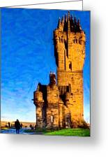 Monument To The Legendary William Wallace Greeting Card