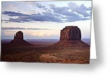 Monument Valley At Sunset Greeting Card
