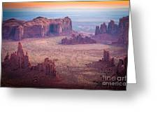 Monument Valley From Hunts Mesa Greeting Card by Inge Johnsson