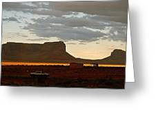 Monument Valley Glow 1 Greeting Card