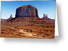 Monument Valley Mitten Greeting Card