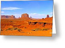 Monument Valley - Panorama Greeting Card