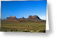 Monument Valley Road Greeting Card