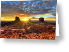 Monument Valley Sunrise Greeting Card