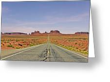 Monument Valley - The Classic View Greeting Card
