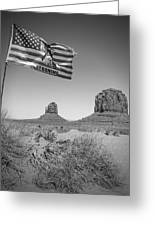 Monument Valley Usa Bw Greeting Card