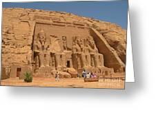 Monumental Abu Simbel Greeting Card