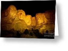 Monumental Night Shot Greeting Card
