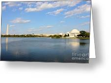 Monumental View From The River Greeting Card