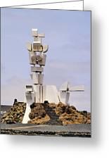 Monumento Al Campesino On Lanzarote Greeting Card