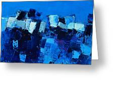 Mood In Blue Greeting Card