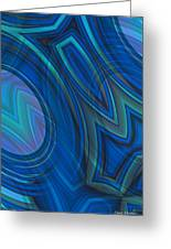 Mood In Blues Greeting Card