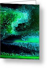 Mood In Green Greeting Card