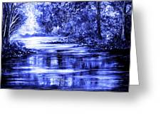 Moody Blue Greeting Card by Ann Marie Bone