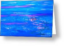 Moody Blues Abstract Greeting Card